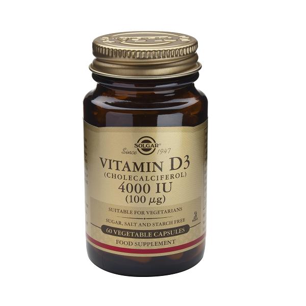 Supliment alimentar, Vitamina D3, Solgar Vitamin D3 4000IU - 60 capsule [0]
