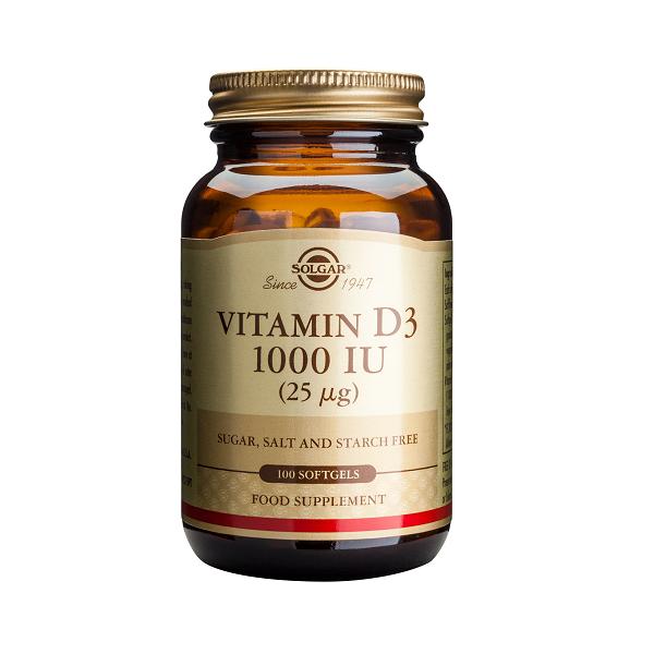 Supliment alimentar, Vitamina D3, Solgar Vitamin D3 1000 UI (25 g) - 100 capsule [0]