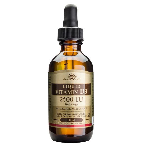 Supliment alimentar, Vitamina D3 (lichida), Solgar Vitamin D3 2500 UI (62,5 g) - 59 ml [0]