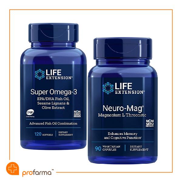 Pachet pentru Functia Cognitiva si Sanatatea Cardiovasculara, Life Extension - Set [0]