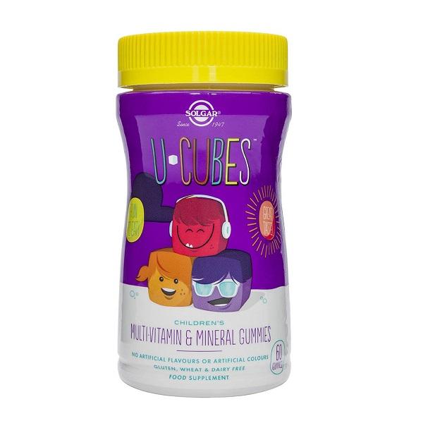 Sumpliment alimentar, U-Cubes Multi-Vitamine si Minerale pentru copii - 60 jeleuri [0]