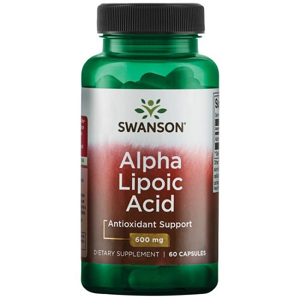Supliment alimentar, Acid Alfa-Lipoic (600 mg), Swanson Alpha Lipoic Acid - 60 capsule (60 doze) [0]