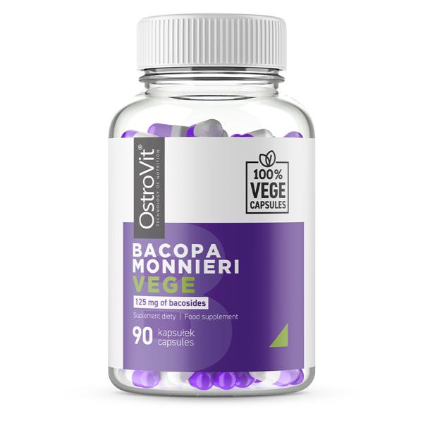 Supliment alimentar, Adaptogen, Bacopa Monnieri (250 mg) OstroVit Bacopa Monnieri Vege - 90 capsule (90 doze) [0]