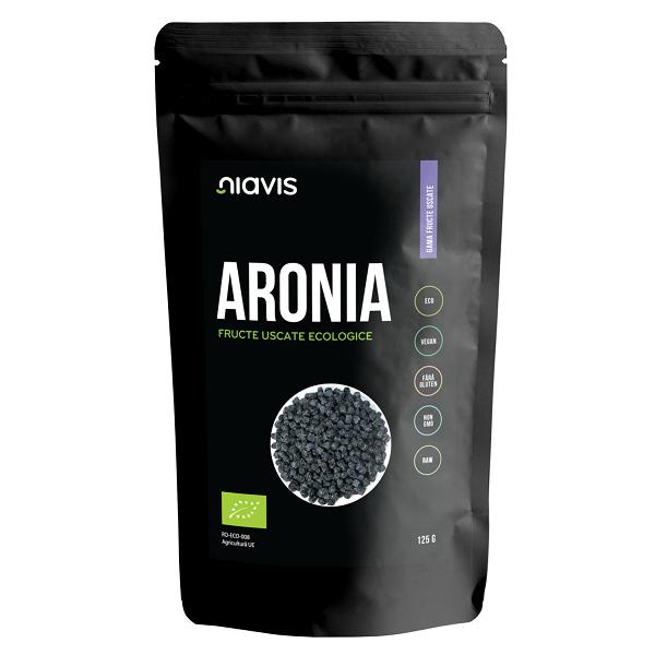 Aronia Fructe Uscate Raw Ecologice - 125 g [0]