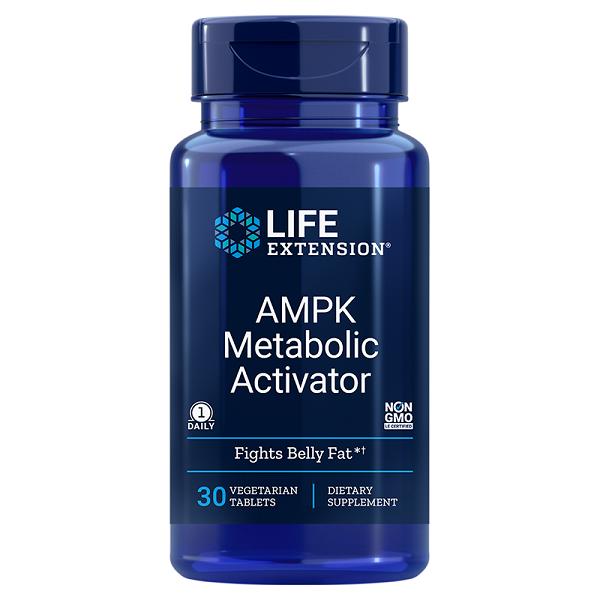 Supliment alimentar, Arzator de Grasimi Abdominale, Life Extension AMPK Metabolic Activator - 30 comprimate [0]