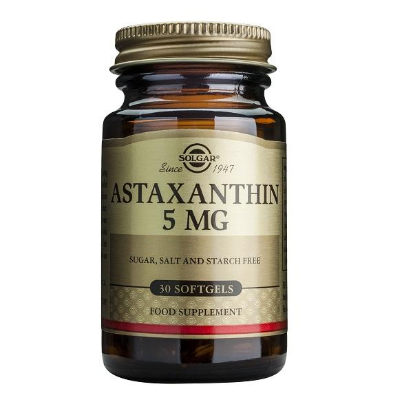 Supliment alimentar, Astaxantina, Astaxanthin (5 mg) - 30 capsule [0]