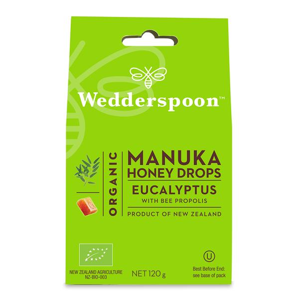 Supliment alimentar, Bomboane (Dropsuri) Ecologice cu Miere de Manuka, Eucalipt si Propolis - 120 g [0]