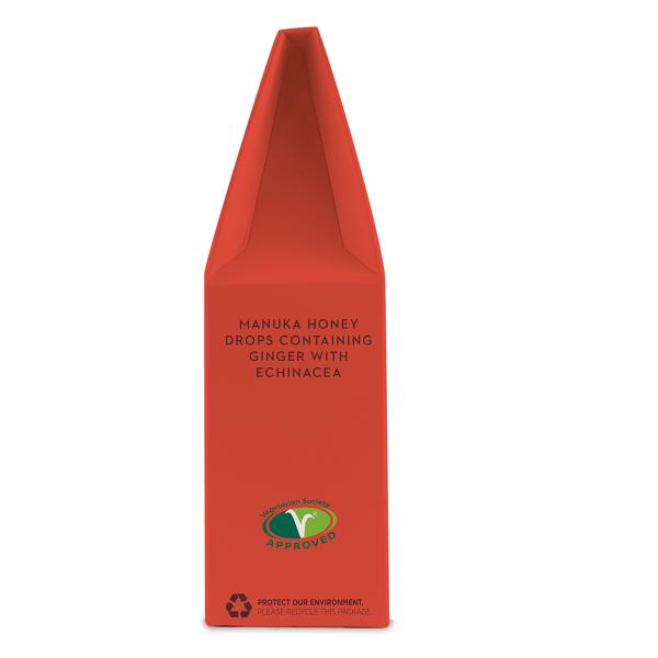 Supliment alimentar, Bomboane (Dropsuri) Ecologice cu Miere de Manuka, Ghimbir si Echinacea - 120 g [3]
