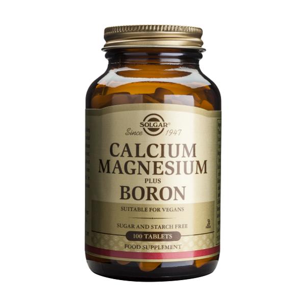 Supliment alimentar, Calciu, Magneziu si Bor, Solgar Calcium Magnesium Plus Boron - 100 tablete [0]