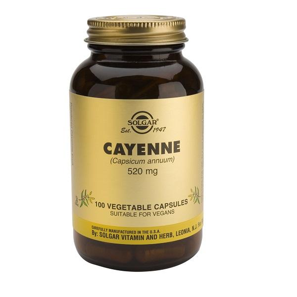 Supliment alimentar, Cayenne (520 mg) - 100 capsule [0]