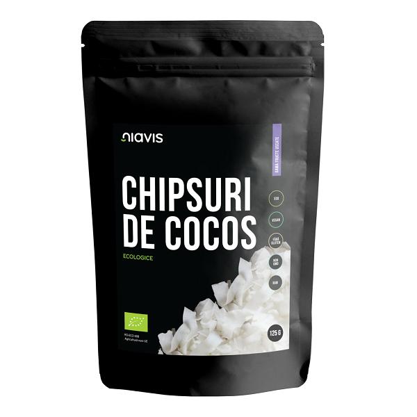 Chipsuri de Cocos RAW Ecologice - 125 g [0]