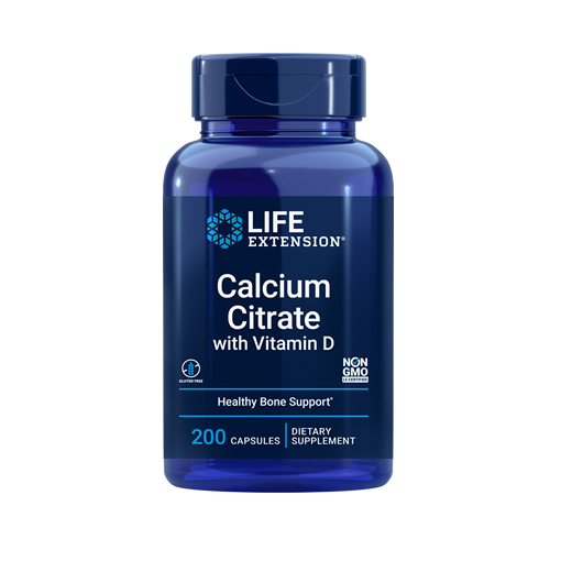 Supliment alimentar, Citrat de Calciu cu Vitamina D3, Life Extension Calcium Citrate with Vitamin D - 200 capsule (200 doze) [0]