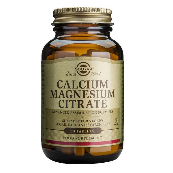 Supliment alimentar, Citrat de Calciu si Magneziu, Solgar Calcium Magnesium Citrate - 50 tablete [0]