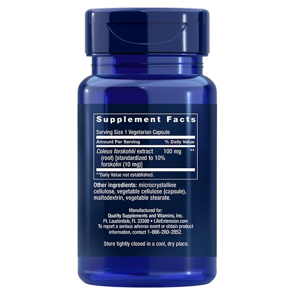 Supliment alimentar, Coleus Forskohlii Standardizat 10% Forskolina, Life Extension Forskolin - 60 capsule [1]