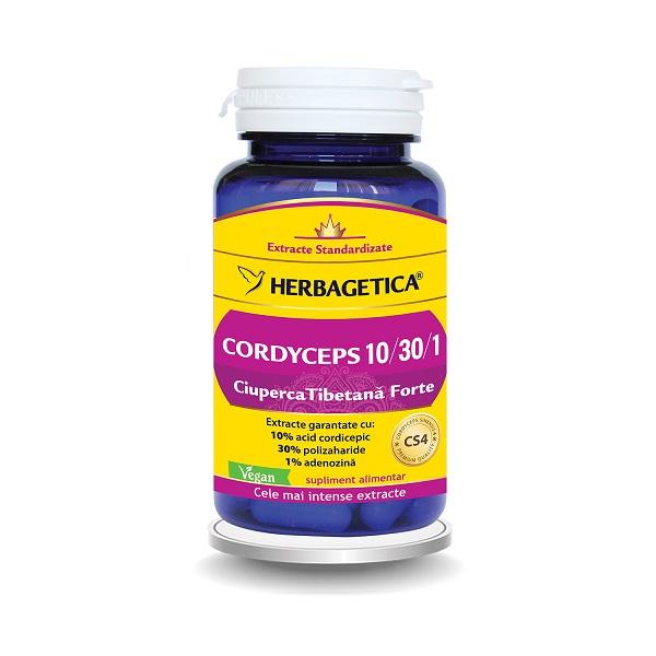 Supliment alimentar, Ciuperca Tibetana Forte, Cordyceps - 60 capsule [0]