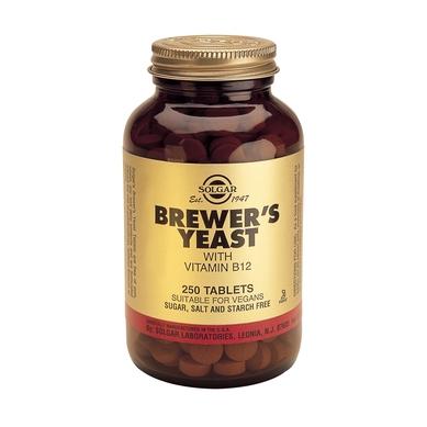 Supliment alimentar, Drojdia de bere cu vitamina B12, Brewer's Yeast with Vit. B12 (500 mg) - 250 tablete [0]