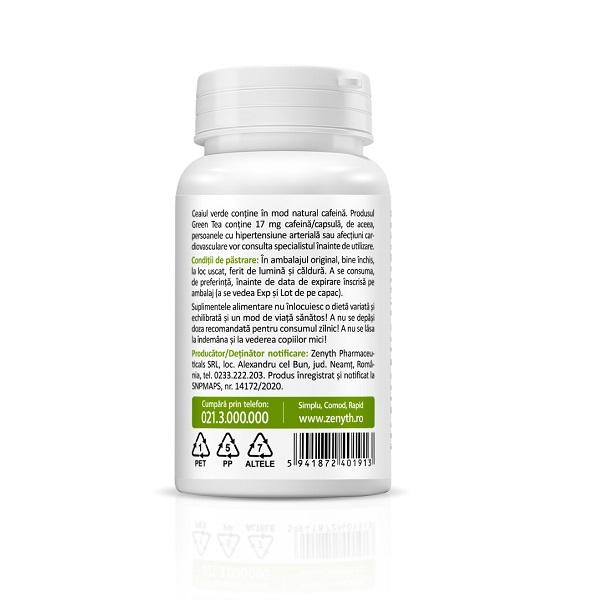 Supliment alimentar, Extract din frunze de Ceai Verde, Green Tea – EGCG Extract (200 mg) - 30 capsule [1]