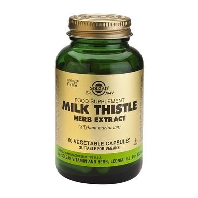 Supliment alimentar, Extract din planta de Silimarina, Solgar Milk Thistle Extract - 60 capsule [0]