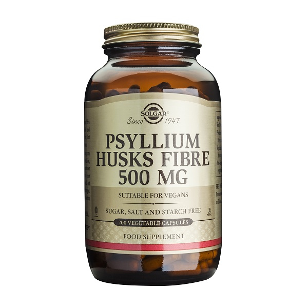 Supliment alimentar, Fibre de Psyllium, Psyllium Husks Fibre (500 mg) - 200 capsule [0]