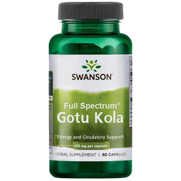 Supliment alimentar, Gotu Kola (435 mg), Swanson Full Spectrum Gotu Kola - 60 capsule (60 doze) [0]