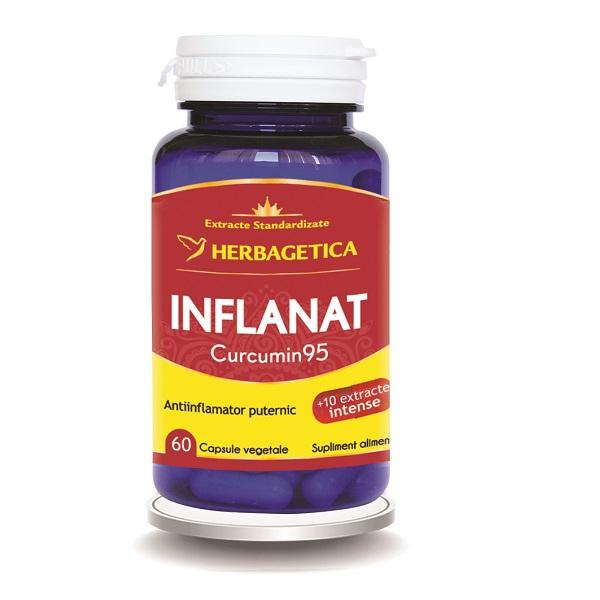 Supliment alimentar, Inflanat Curcumin 95 - 60 capsule [0]