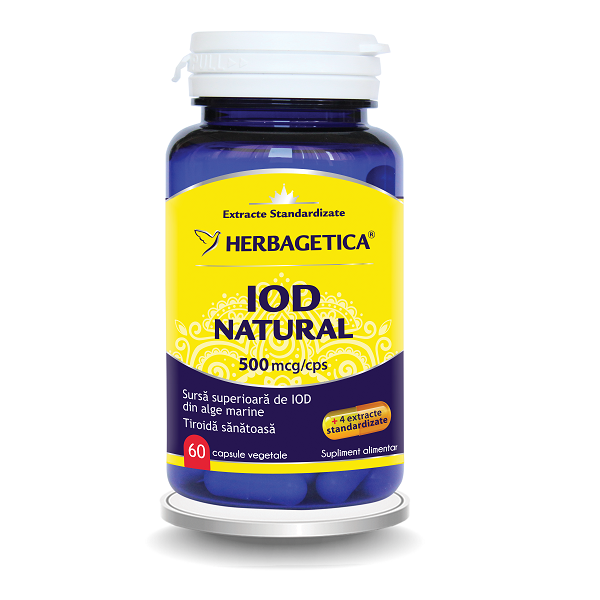 Supliment alimentar,  Iod Natural (500 mcg) - 60 capsule [0]