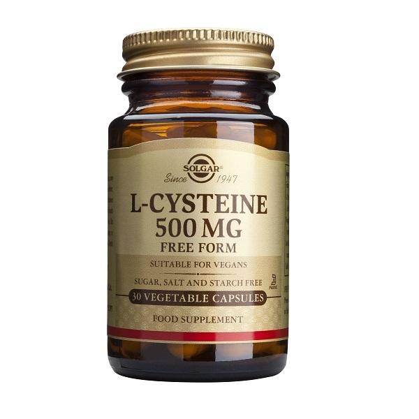 Supliment alimentar, L-Cisteina, L-Cysteine (500 mg) - 30 capsule [0]
