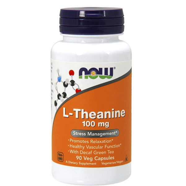 Supliment alimentar, L-Teanina (100 mg), Now Foods L-Theanine - 90 capsule (90 doze) [0]