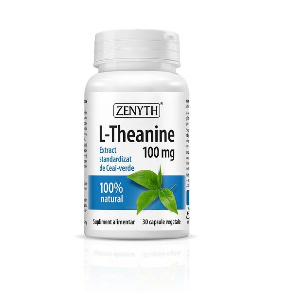 Supliment alimentar, L-Teanina, L-Theanine (100 mg) - 30 capsule [0]
