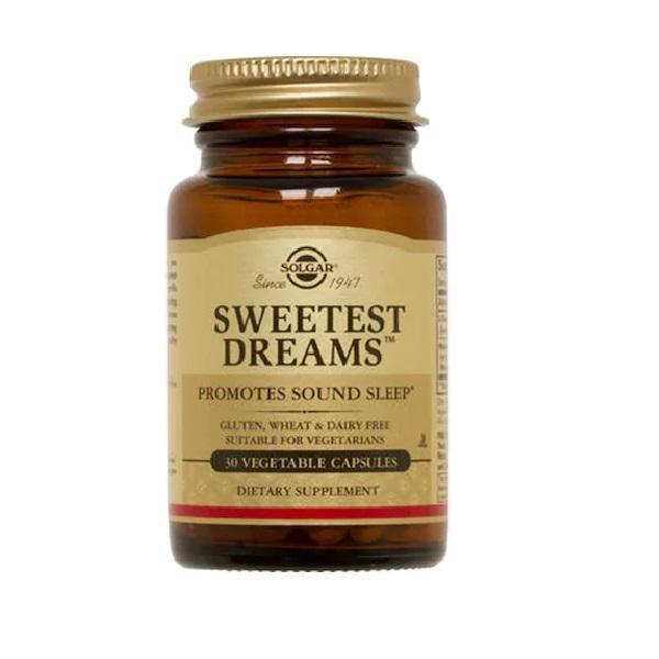 Supliment alimentar, L-teanina si Melatonina, Solgar Sweetest Dreams - 30 capsule [0]