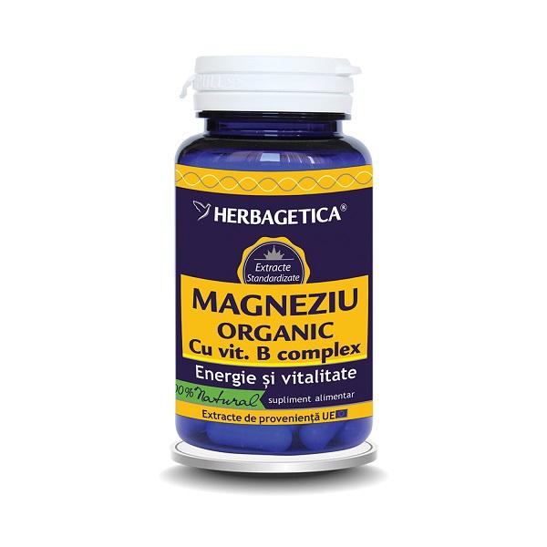 Supliment alimentar, Magneziu Organic Cu Vitamina B-Complex - 30 capsule [0]