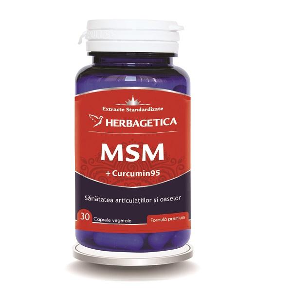 Supliment alimentar, MSM + Curcumin 95 - 30 capsule [0]