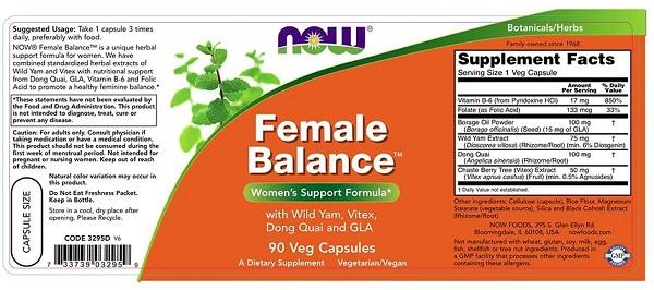 Supliment alimentar pentru Femei, Now Foods Female Balance - 90 capsule (90 doze) [1]