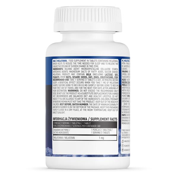 Supliment alimentar pentru Somn Linistit si Insomnie, Melatonina, OstroVit Melatonin - 300 comprimate (300 doze) [1]