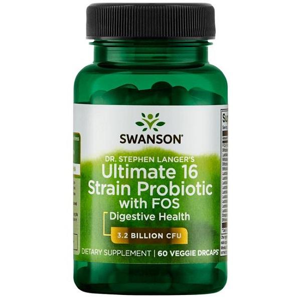 Supliment alimentar, Probiotic, Swanson Dr. Stephen Langer's Ultimate 16 Strain Probiotic with FOS - 60 capsule (60 doze) [0]