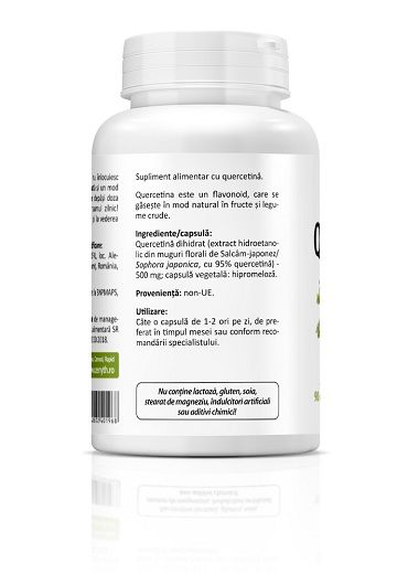 Supliment alimentar, Quercetin (500 mg) - 90 capsule vegetale [1]