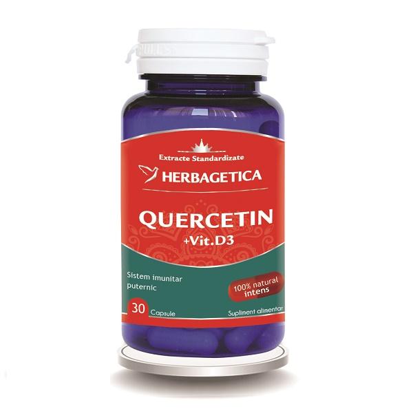 Supliment alimentar, Quercetin + Vitamina D3 - 30 capsule [0]