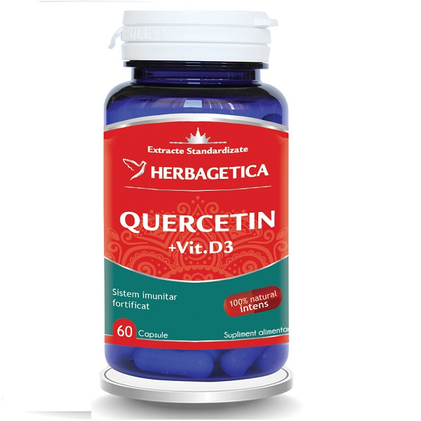 Supliment alimentar, Quercetin + Vitamina D3 - 60 capsule [0]