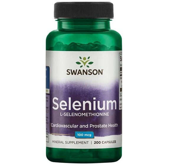 Supliment alimentar, Seleniu (100 mcg), Swanson Selenium L-Selenomethionine - 200 capsule (200 doze) [0]