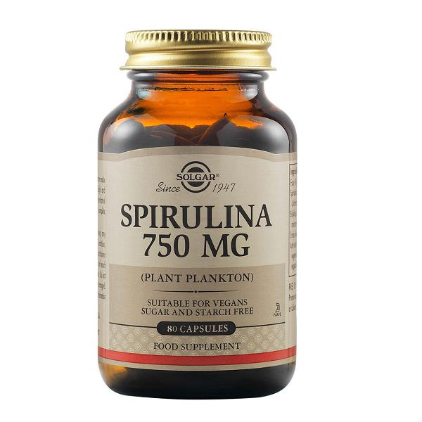 Supliment alimentar, Solgar Spirulina (750 mg) - 80 capsule [0]