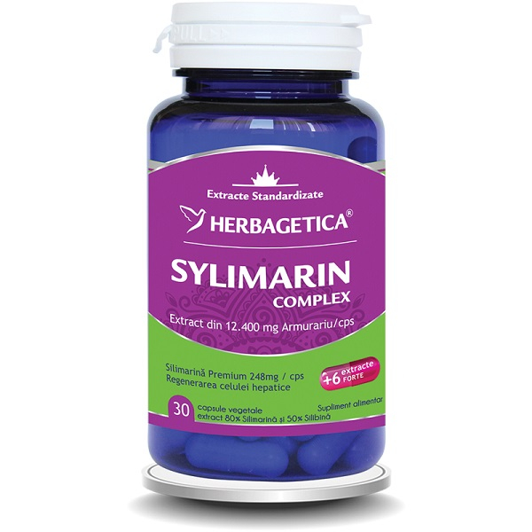 Supliment alimentar, Sylimarin Complex - 30 capsule [0]