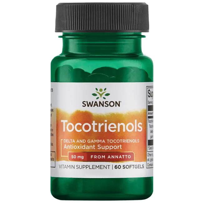 Supliment alimentar, Tocotrienoli (50 mg), Swanson Delta and Gamma Tocotrienols - 60 capsule (60 doze) [0]