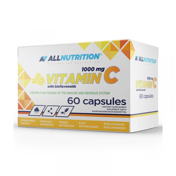 Supliment alimentar, Vitamina C (1000 mg) cu Bioflavonoide, AllNutrition Vitamin C 1000 - 60 capsule (60 doze) [0]