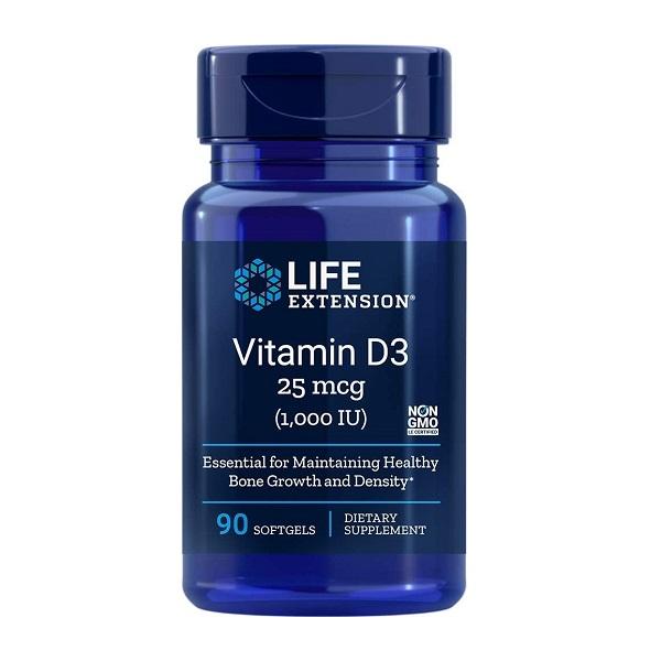 Supliment alimentar, Vitamina D3, Imunitate, Densitate Osoasa si Sistem Cardiovascular, Life Extension Vitamin D3 - 90 capsule (90 doze) [0]