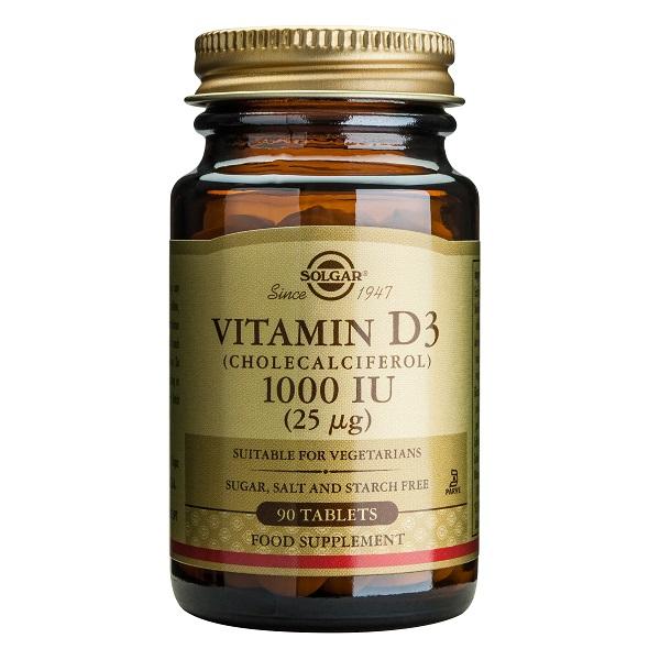 Supliment alimentar, Vitamina D3, Vitamin D3 1000 UI (25 g) - 90 comprimate [0]