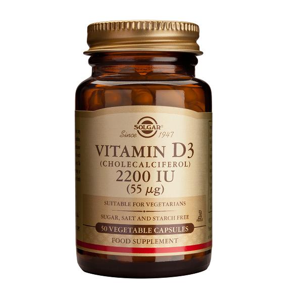 Supliment alimentar, Vitamina D3, Solgar Vitamin D3 2200UI (Colecalciferol) (55 ug) - 50 capsule [0]