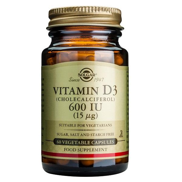 Supliment alimentar, Vitamina D3, Vitamin D3 600IU (15 mcg) - 60 capsule [0]