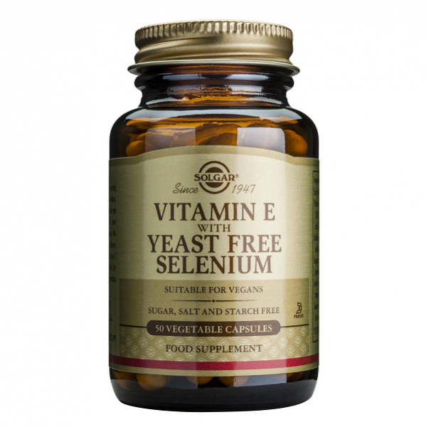 Supliment alimentar, Vitamina E + Seleniu, Solgar Vitamin E + Selenium - 50 capsule [0]