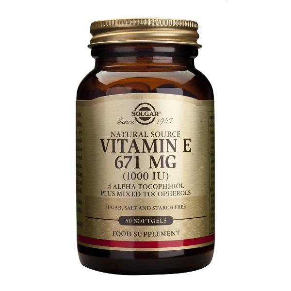 Supliment alimentar, Vitamina E, Vitamin E 671 mg (1000IU) - 50 capsule [0]