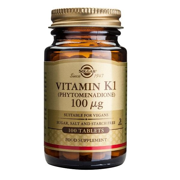 Supliment alimentar, Vitamina K1, Solgar Vitamin K1 (100 mcg) - 100 tablete [0]